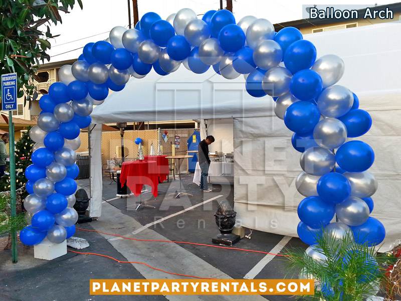 Balloon arch balloon columns balloon decorations for Balloon column decoration