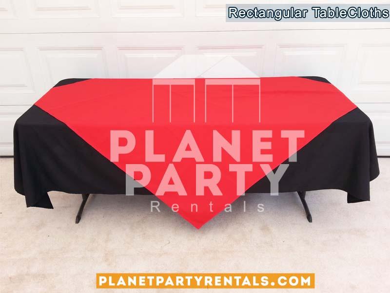 05 Black Table Cloth Linen Rentals Van Nuys