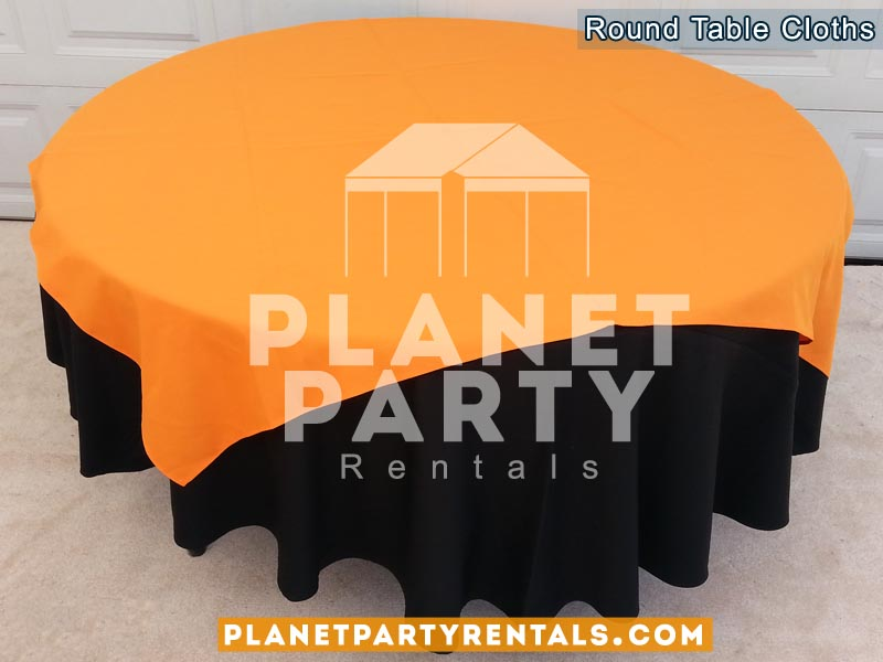 Beautiful 08 Round Black Tablecloths With Overlay Van Nuys
