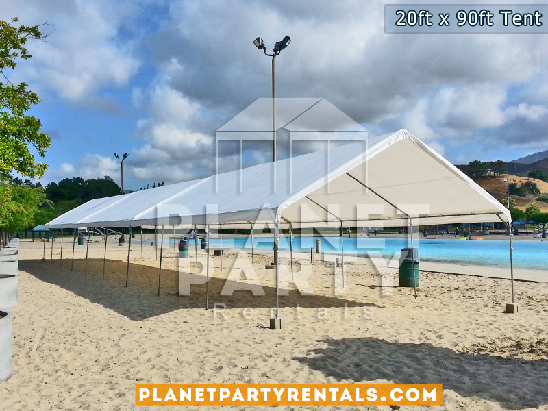 20 x 90 White Party Tent