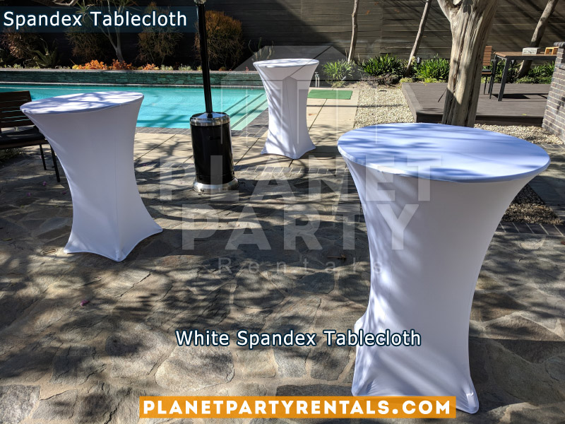 Spandex White Tablecloth for Cocktail Table