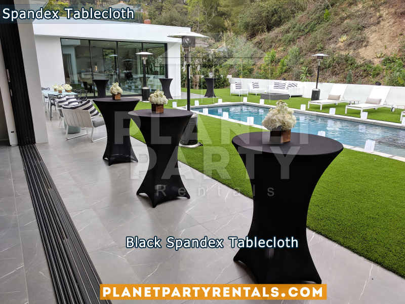 3 Black Tablecloths Spandex