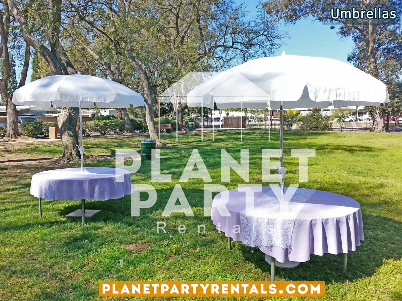 Outdoor Umbrella Rentals | Patio Umbrella with Stand and Round Table