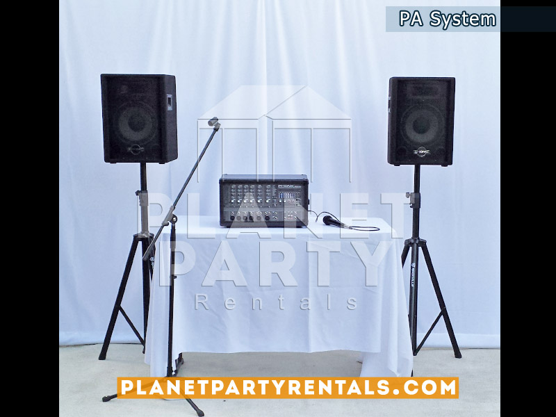 Audio - PA System with Phonic PowerdPod Mixer with PA Speakers