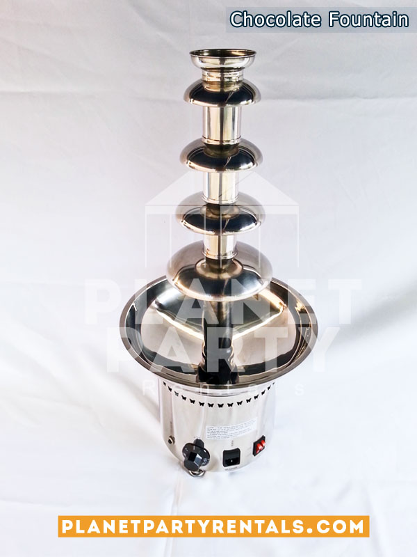 "Chocolate Fountain 5 Tier Stainless Steel 27"" Tall"