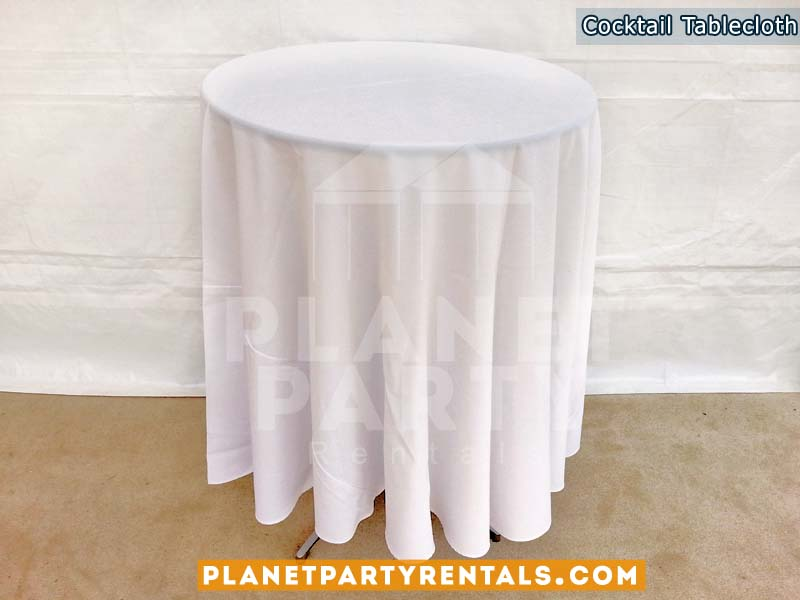 White round tablecloth for round cocktail table