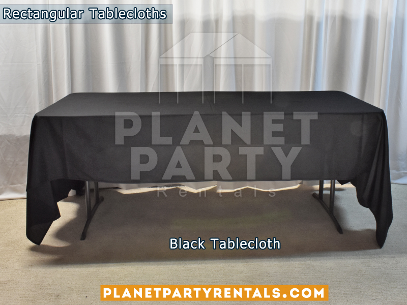 Black Rectangular Tablecloth for 6ft Rectangular Table