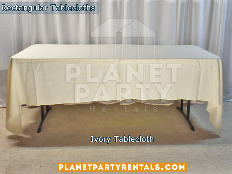 Ivory Rectangular Tablecloth for 6ft Rectangular Table