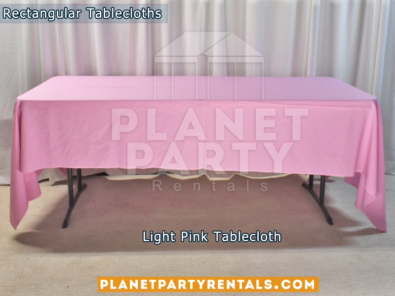 Light Pink Rectangular Tablecloth for 6ft Rectangular Table