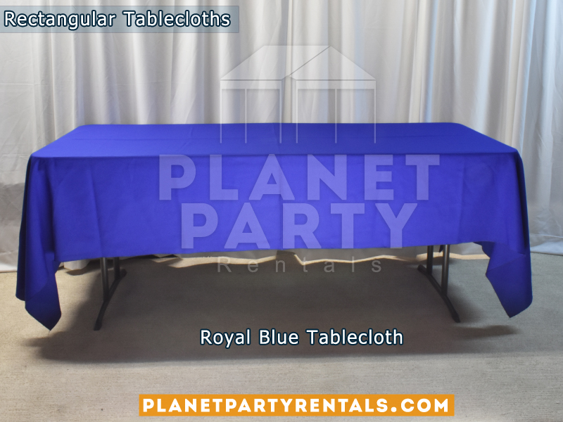 Royal Blue Rectangular Tablecloth for 6ft Rectangular Table