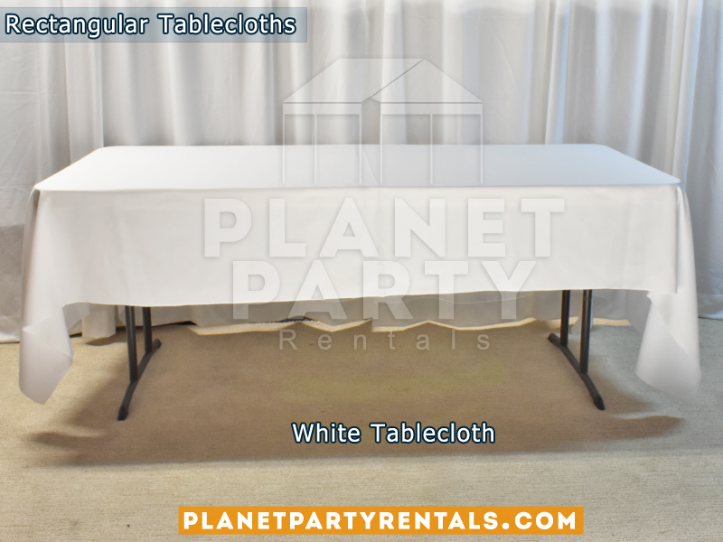 White Rectangular Tablecloth for 6ft Rectangular Table