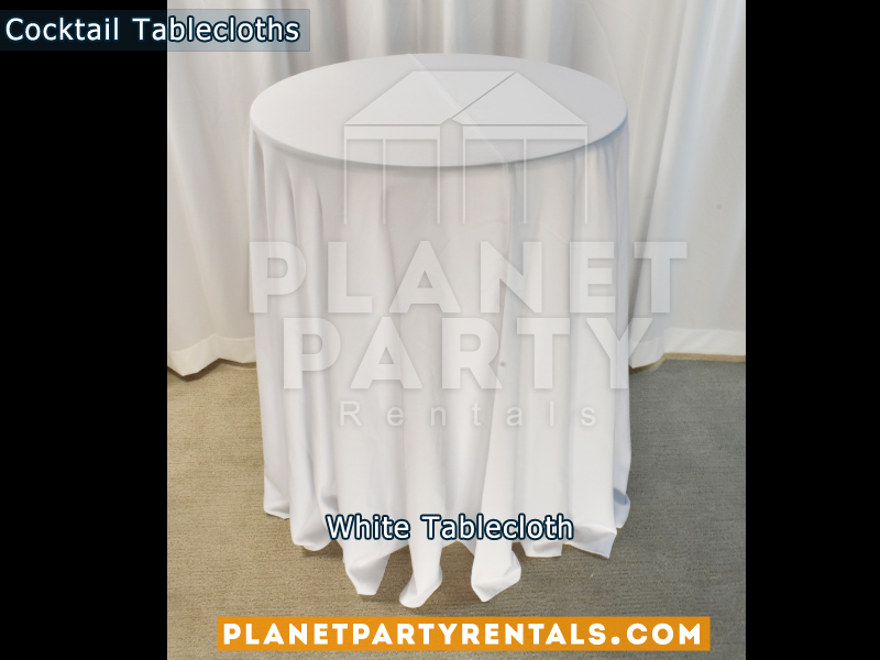 White Cocktail Tablecloth for Cocktail Table