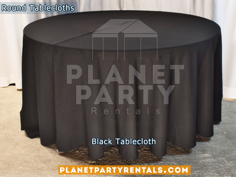 "Black Tablecloth for 60"" Round Table"