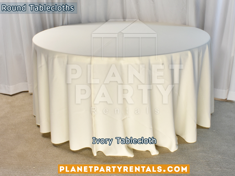 "Ivory Tablecloth for 60"" Round Table"
