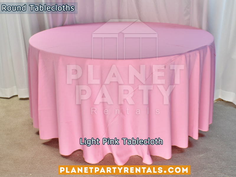"Light Pink Tablecloth for 60"" Round Table"