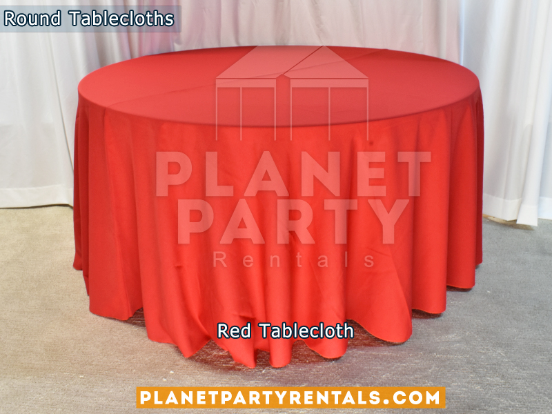 "Red Tablecloth for 60"" Round Table"