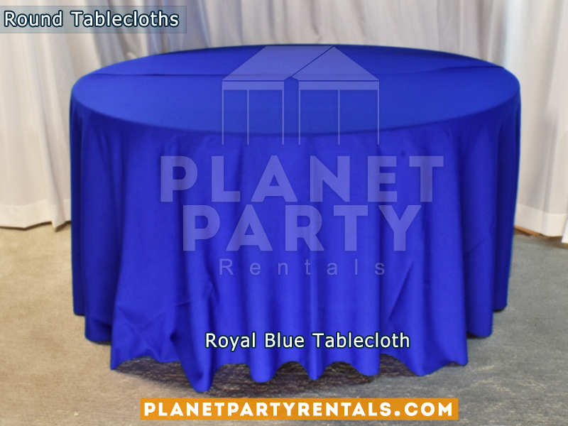 "Royal Blue Tablecloth for 60"" Round Table"