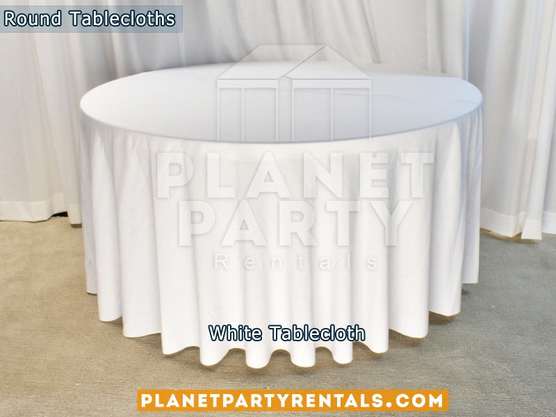 "White Tablecloth for 60"" Round Table"