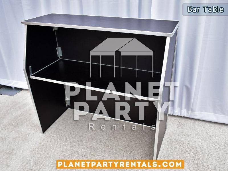 Black Wooden Bar Table