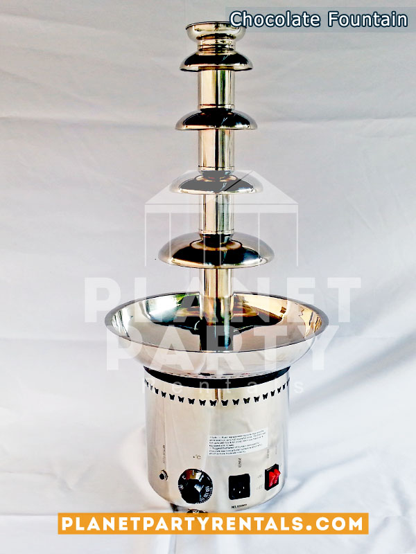 "Stainless Steel Chocolate Fountain 5 Tier - 27"" Inches Tall - Chocolate Fondue"