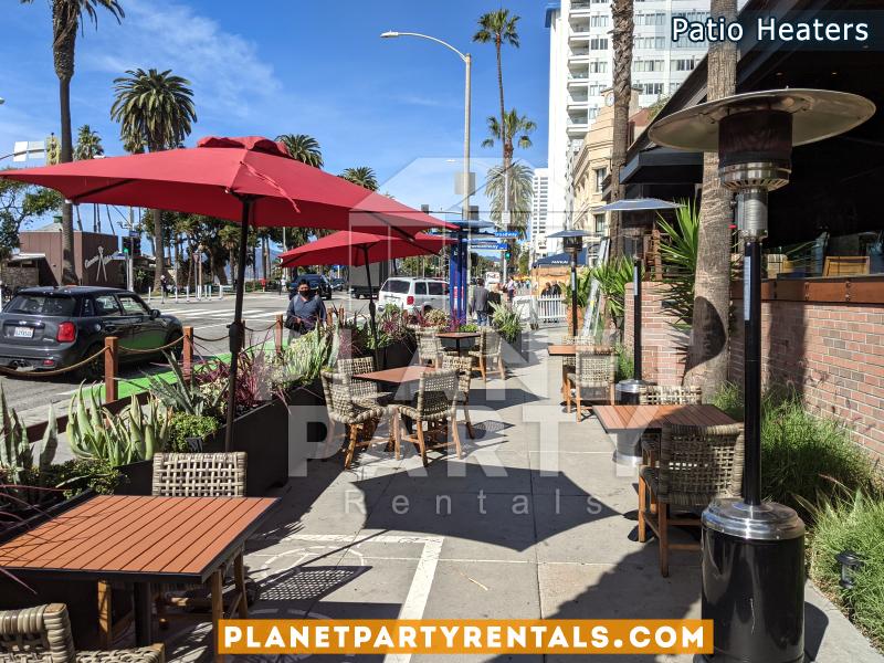Outdoor Heaters for Meat on Ocean Restaurant Santa Monica