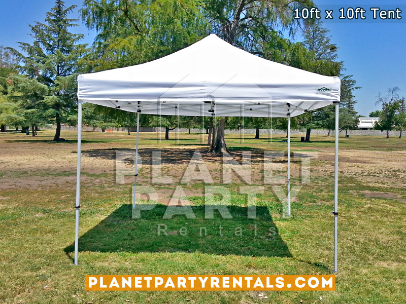 10ft x 10ft White Pop Up Tent (Adjustable Height)