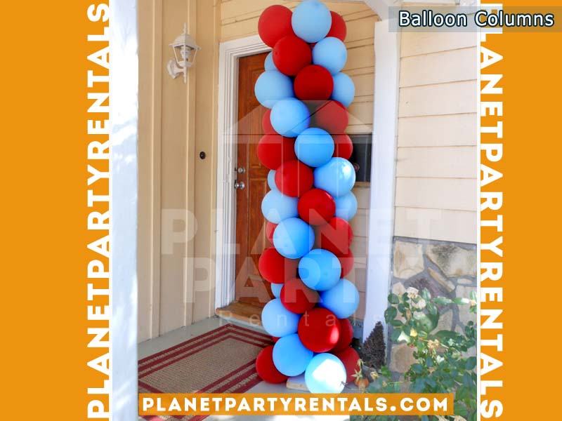 Balloon Columns Multicolored | Custom Balloon Decorations we can use different colors to create a custom column or arch for your Wedding, XV, Quinceanera, Baptism | San Fernando Valley | Van Nuys, Panorama City, Reseda, North Hollywood