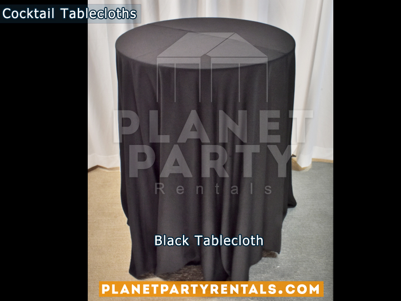 Black Cocktail Tablecloth for Cocktail Table