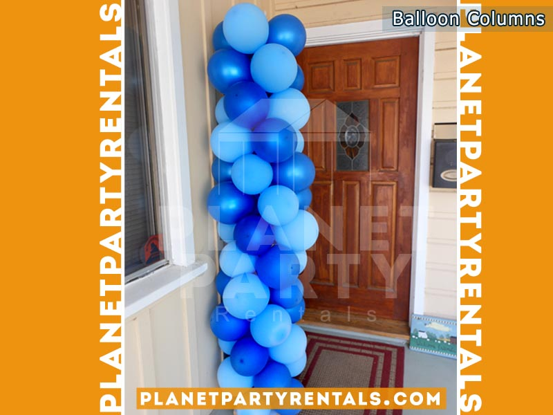 Blue / Royal Blue Balloon Column | Balloon Decorations San Fernando Valley
