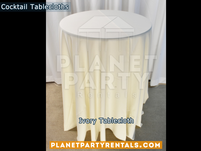 Ivory Cocktail Tablecloth for Cocktail Table