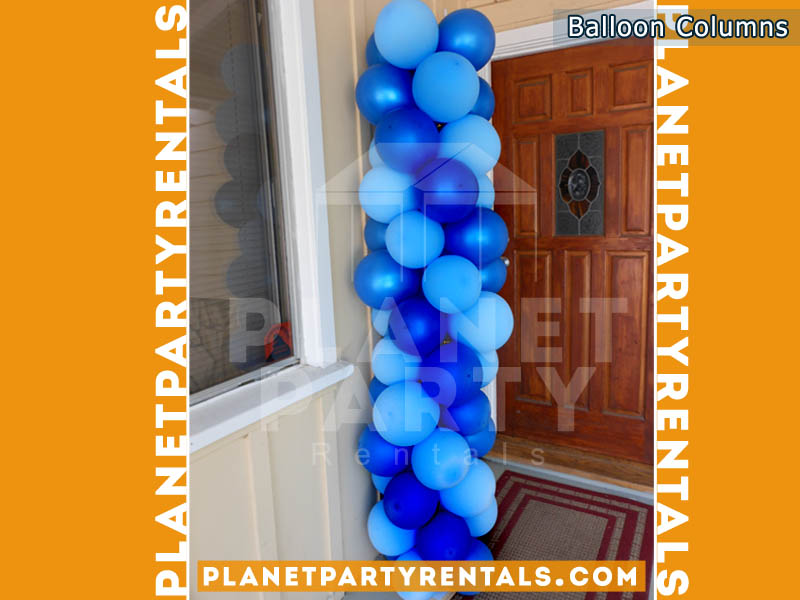 6ft Blue / Royal Blue Balloon Column | Balloon Decorations San Fernando Valley | Balloon Decorations with Weddings, XV, Birthdays, Corporate Events, Churches