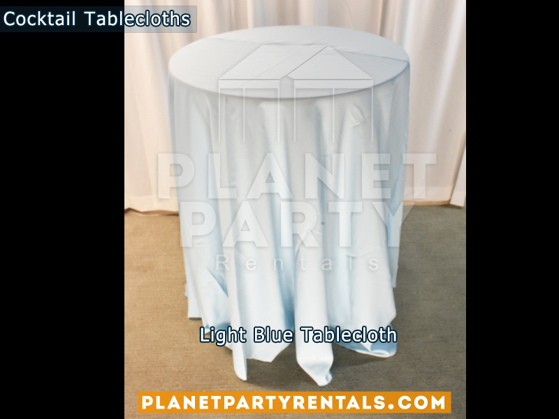 Light Blue Cocktail Tablecloth for Cocktail Table