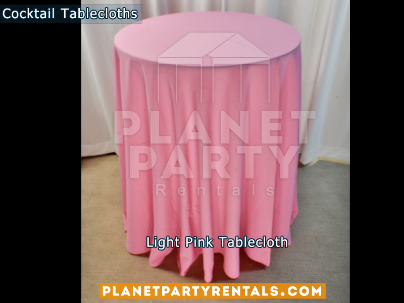 Light Pink Cocktail Tablecloth for Cocktail Table