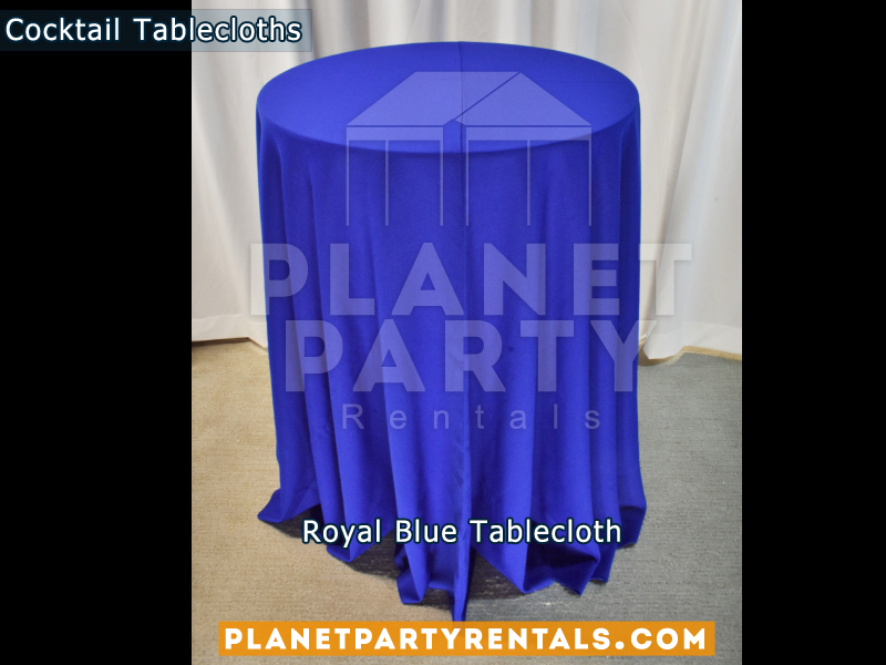 Royal Blue Cocktail Tablecloth for Cocktail Table