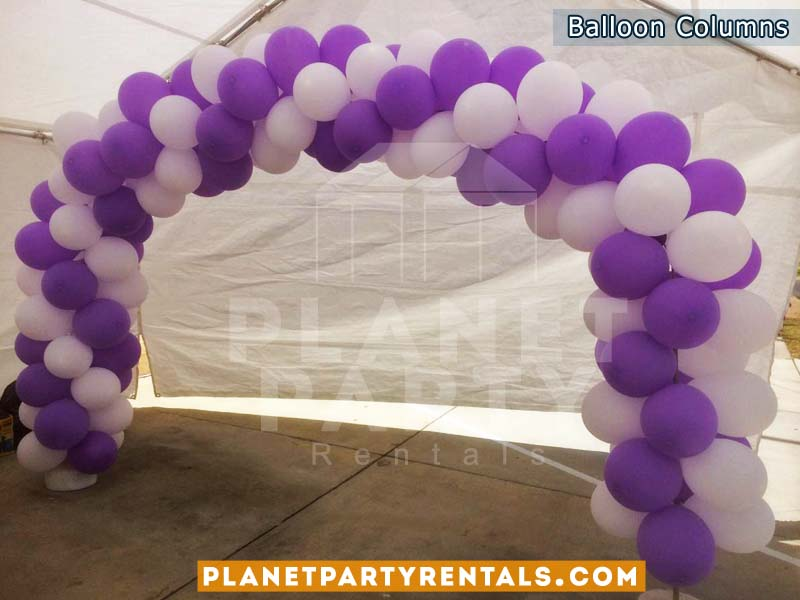 Balloon Arch with purple and white balloons | Balloon decorations | Balloons San Fernando Valley