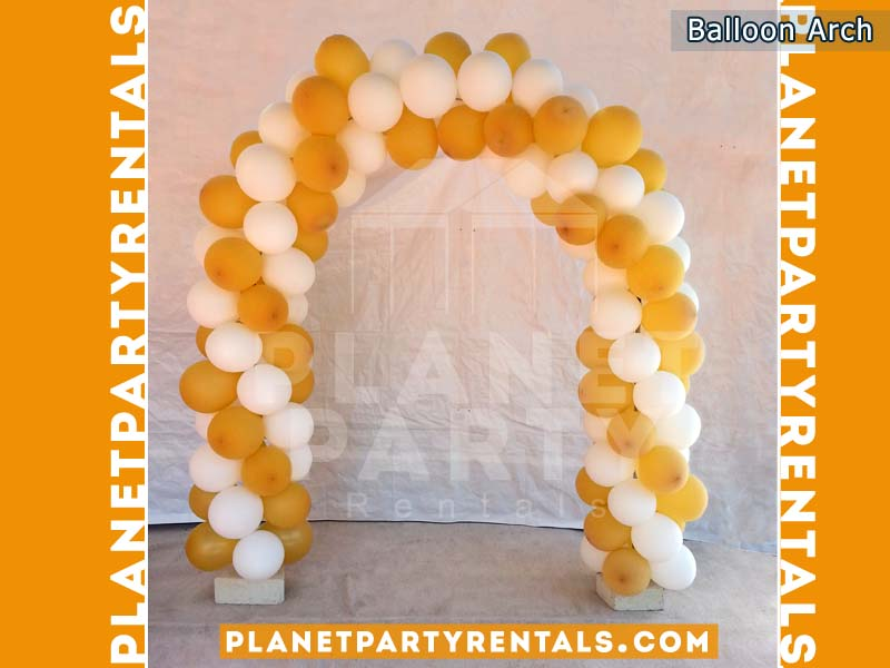 Balloon Arch with yellow and gold balloons | San Fernando Valley Balloon Decorations