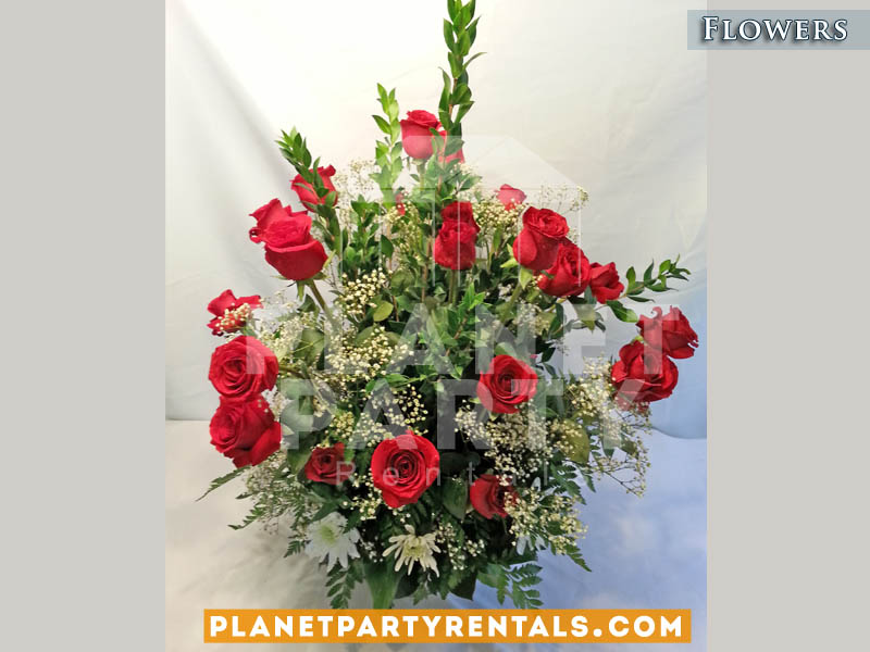 Red Roses Centerpiece flower decoration for Table