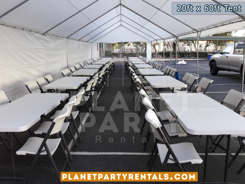 20ft x 60ft Tent Setup for Daniel Pearl High School - Pearl Con