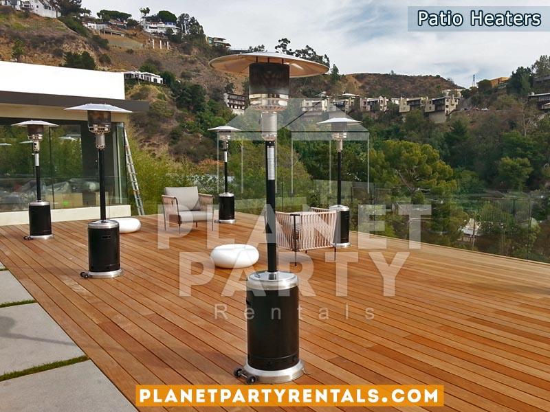 black stainless steel outdoor patio heater rentals san fernando valley party rentals - Outdoor Propane Heaters
