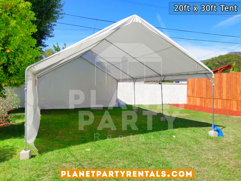 20ft x 30ft Party Tent with Sidewalls on Grass for Birthday Party