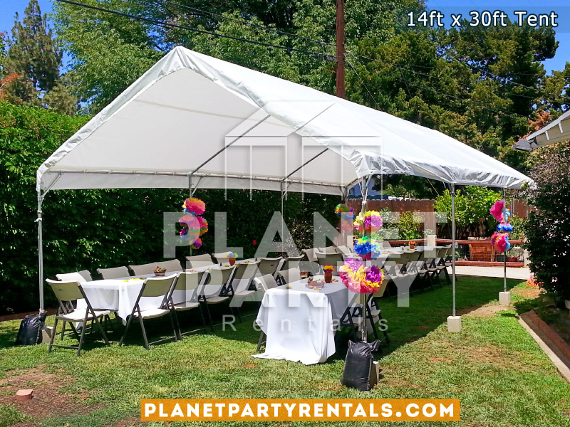 14ft x 30ft White Party Tent | San Fernando Valley Party Rentals