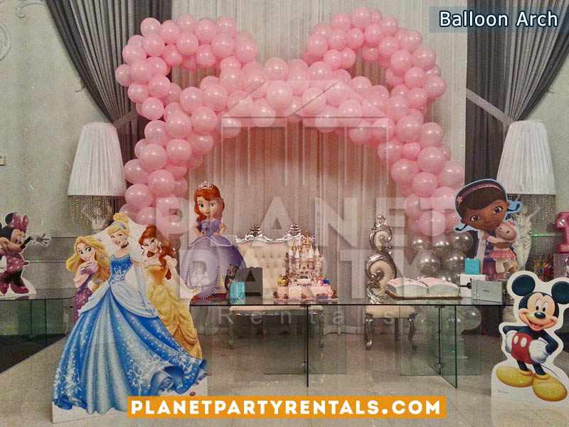 Pink Balloon Arch with Mouse Ears | Balloon Decorations and Arches | Party Balloon Decorations