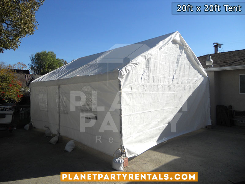 20ft x 20ft white party tent rentals sfv los aneles