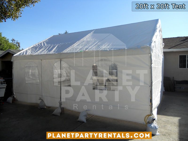 20ft x 20ft Tent Packages available for rent | San Fernando Valley Party Rentals | Tents Tables Chairs Patio Heaters