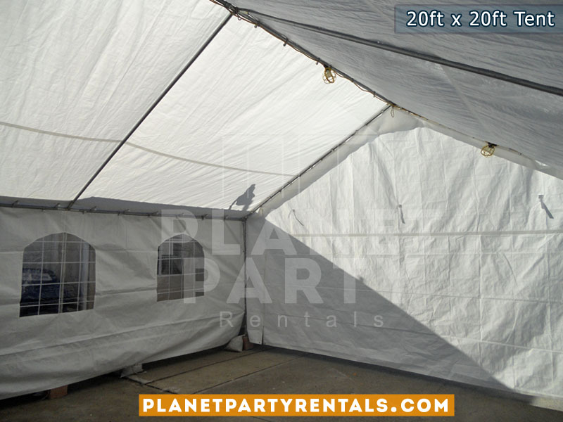 20 x 20 Tent with Window Walls and Solid sidewalls
