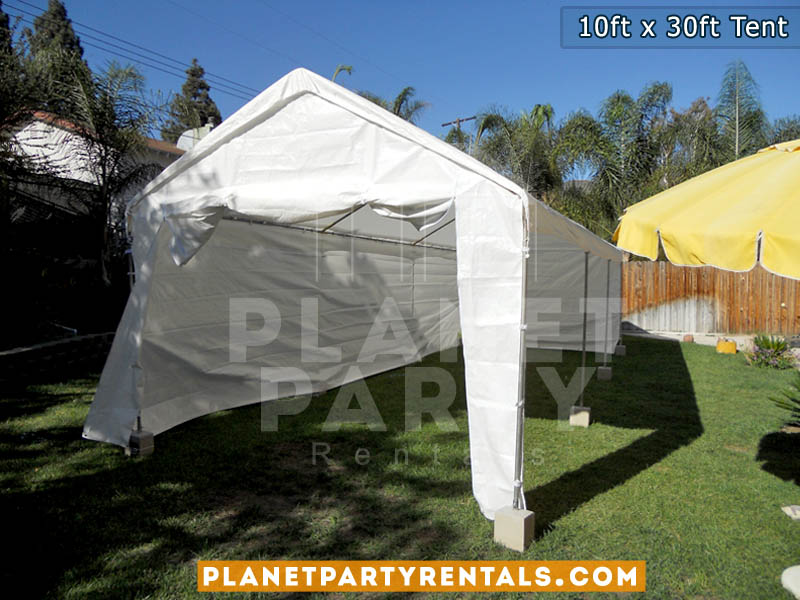 10ft x 30ft Party Tent with Sidewalls | San Fernando Valley Tent Rentals
