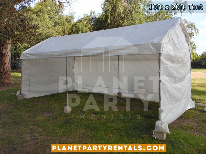10ft x 20ft Party Tent | White Tent | San Fernando Valley Party Rentals & 10ft x 20ft Tent Rental