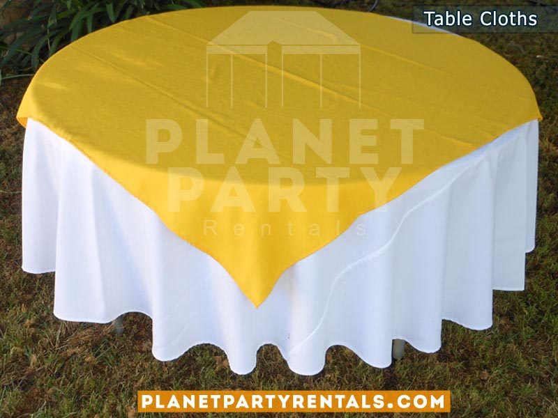 runner with diamond/overlay. table white round prices cloth table  on table round rental yellow