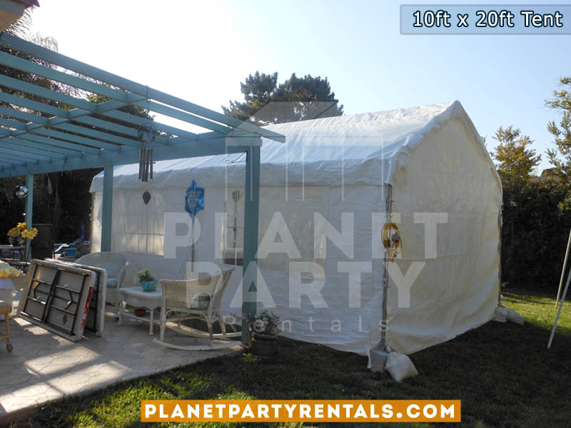 10ft x 20ft White Party Tent | San Fernando Valley Tent Rentals