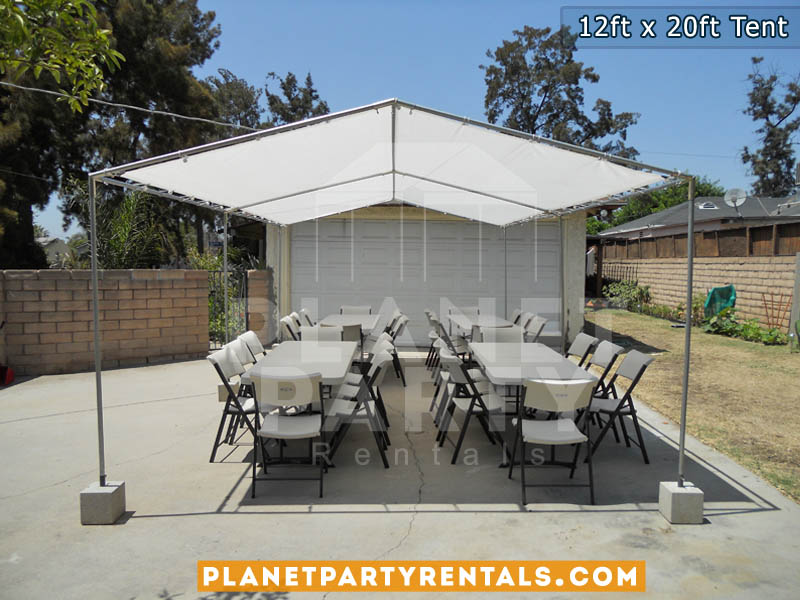 Superieur 12ft X 20ft White Party Tent | San Fernando Valley Tent Rentals